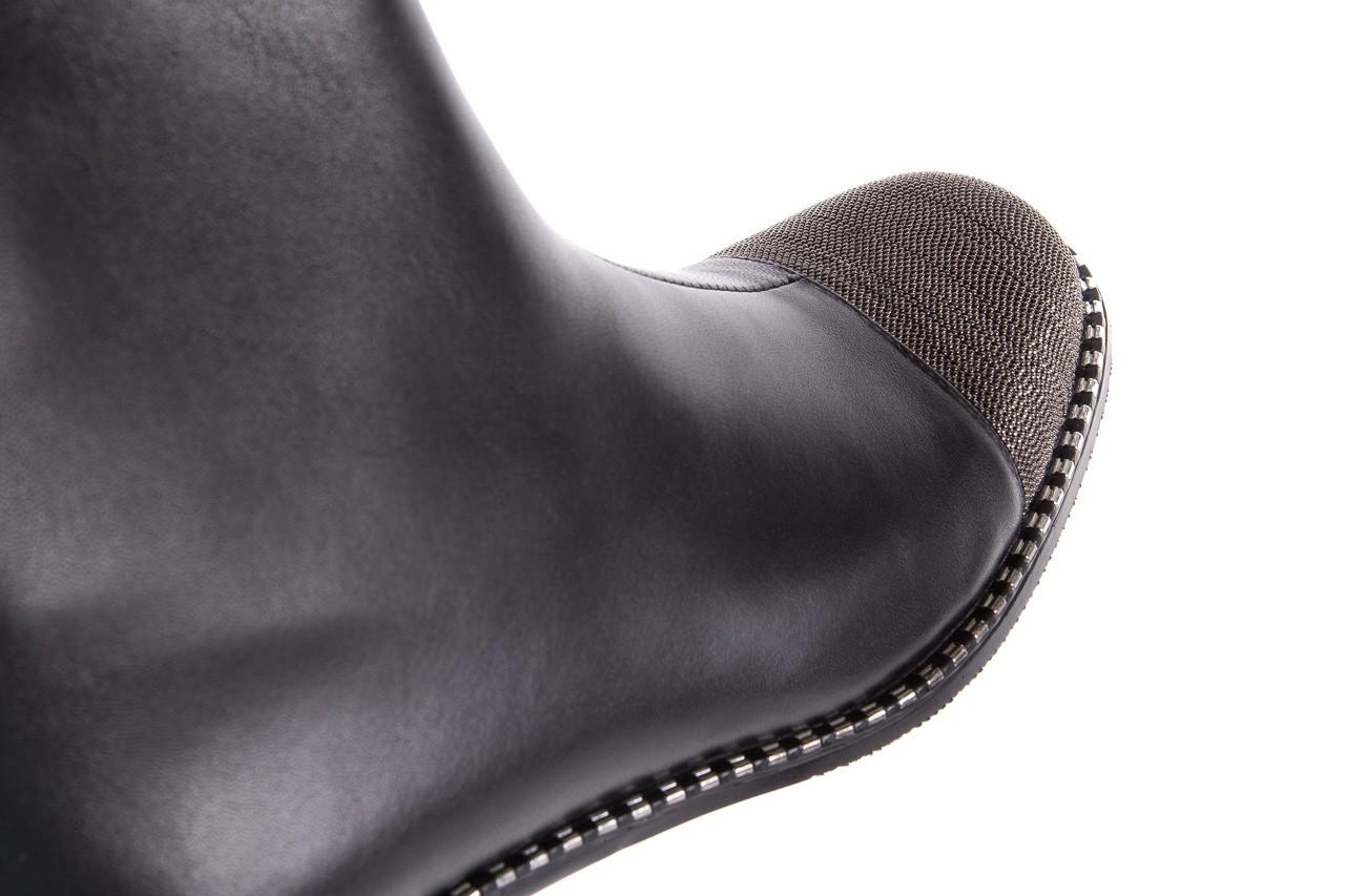 Botki sca'viola f-93 black, czarny, skóra naturalna  - sztyblety - botki - buty damskie - kobieta 19