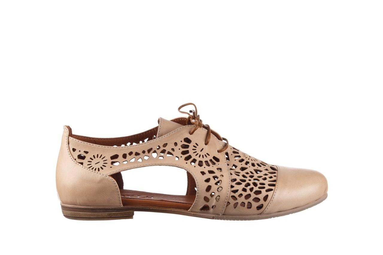 Półbuty bayla-161 066 417 beige, beż, skóra naturalna - sznurowane - półbuty - buty damskie - kobieta 7