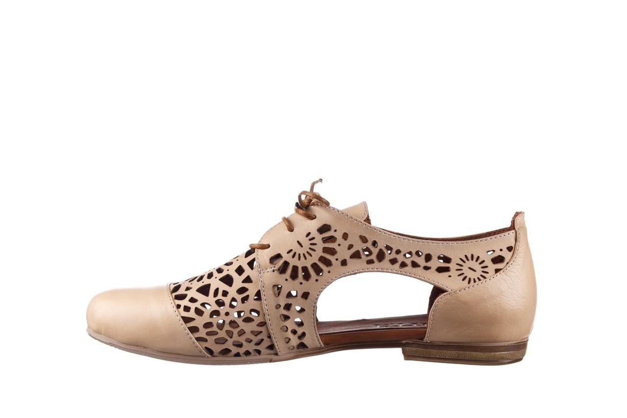 Półbuty bayla-161 066 417 beige, beż, skóra naturalna - sznurowane - półbuty - buty damskie - kobieta 9