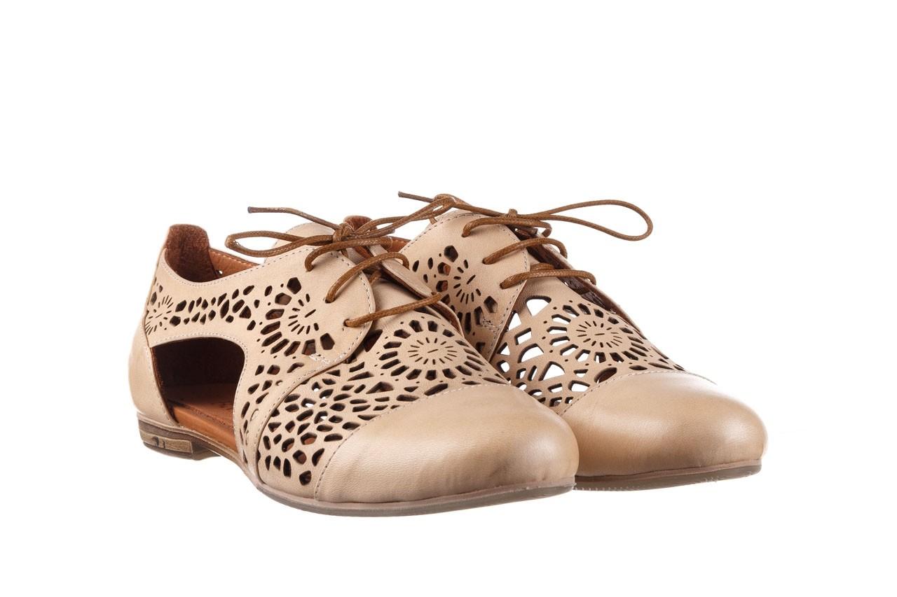 Półbuty bayla-161 066 417 beige, beż, skóra naturalna - sznurowane - półbuty - buty damskie - kobieta 8