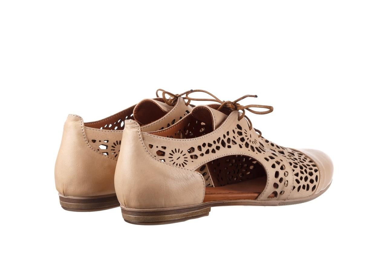 Półbuty bayla-161 066 417 beige, beż, skóra naturalna - sznurowane - półbuty - buty damskie - kobieta 10