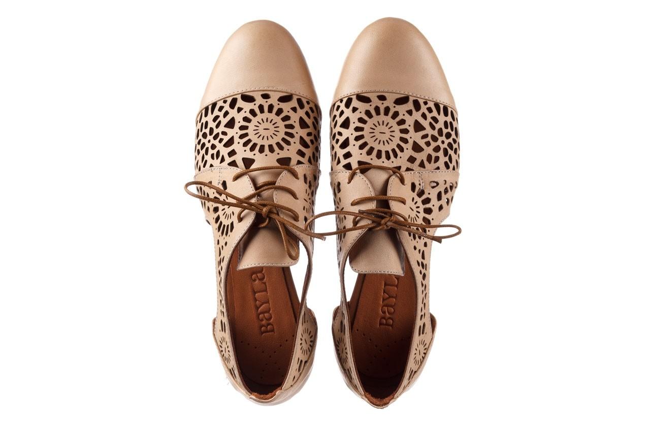 Półbuty bayla-161 066 417 beige, beż, skóra naturalna - sznurowane - półbuty - buty damskie - kobieta 11