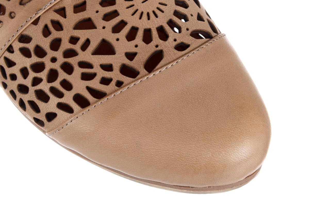 Półbuty bayla-161 066 417 beige, beż, skóra naturalna - sznurowane - półbuty - buty damskie - kobieta 12