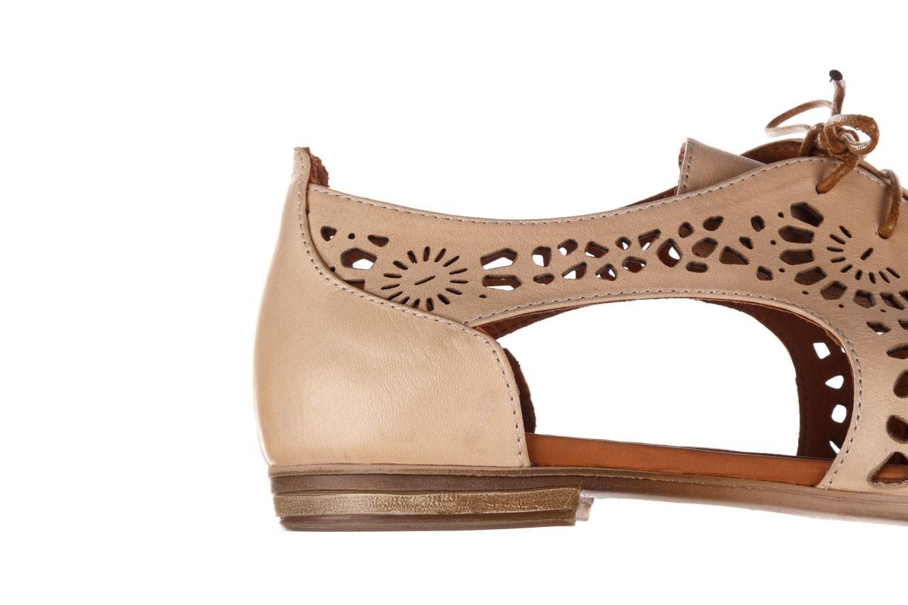 Półbuty bayla-161 066 417 beige, beż, skóra naturalna - sznurowane - półbuty - buty damskie - kobieta 13