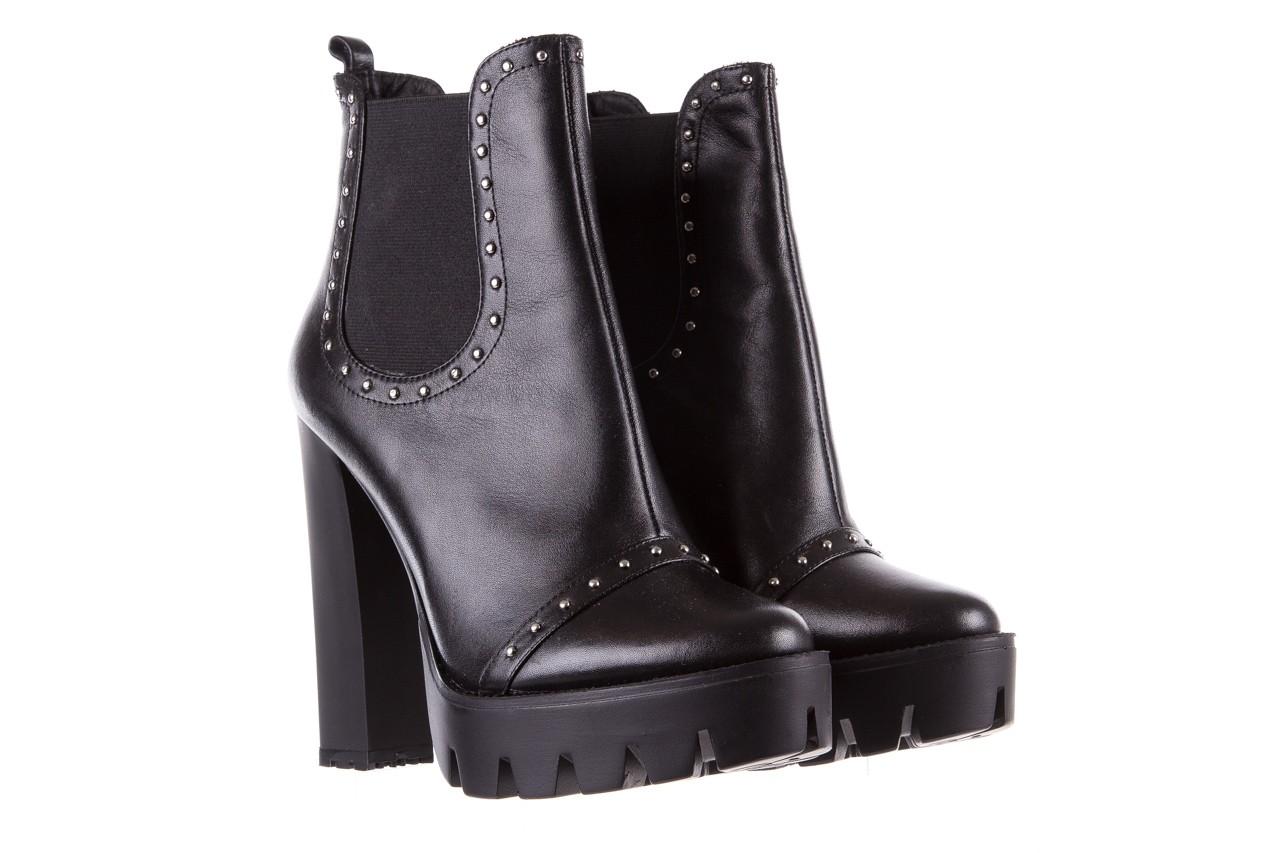 Botki bayla-176 8557 czarne botki, skóra naturalna  - biker - botki - buty damskie - kobieta 10