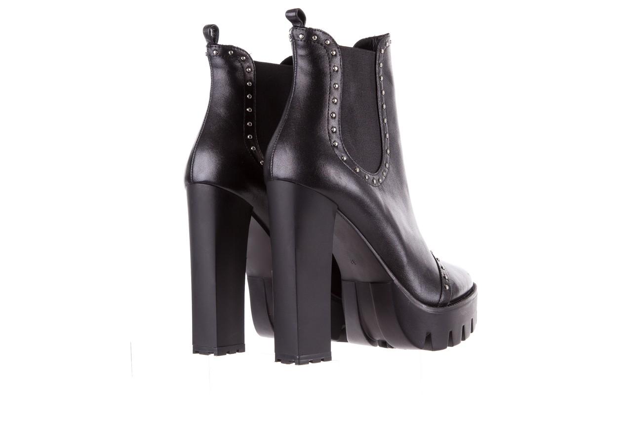 Botki bayla-176 8557 czarne botki, skóra naturalna  - biker - botki - buty damskie - kobieta 13