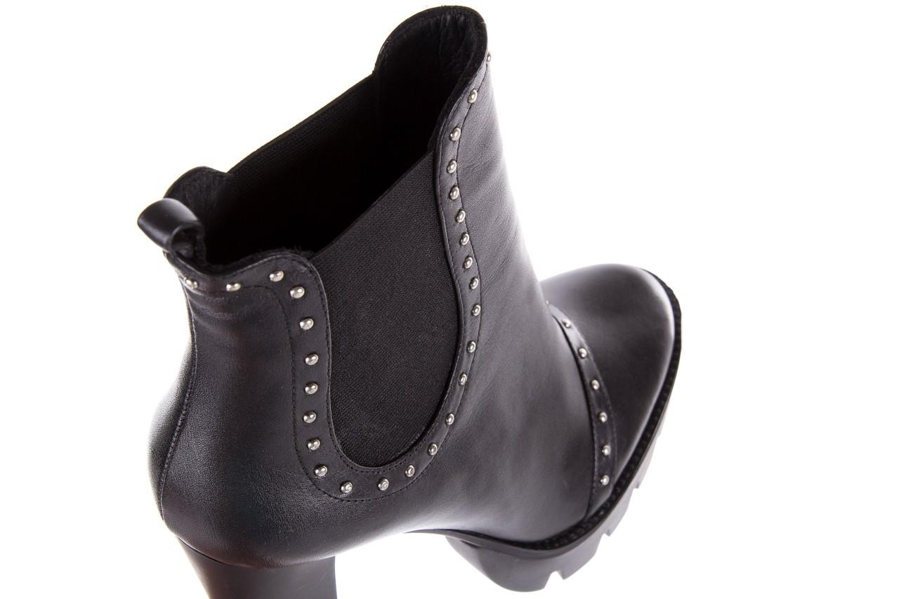 Botki bayla-176 8557 czarne botki, skóra naturalna  - biker - botki - buty damskie - kobieta 17