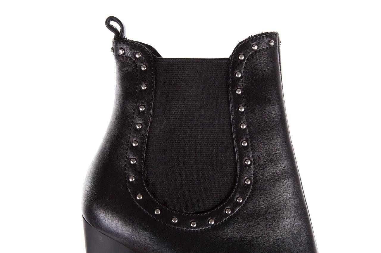 Botki bayla-176 8557 czarne botki, skóra naturalna  - biker - botki - buty damskie - kobieta 15