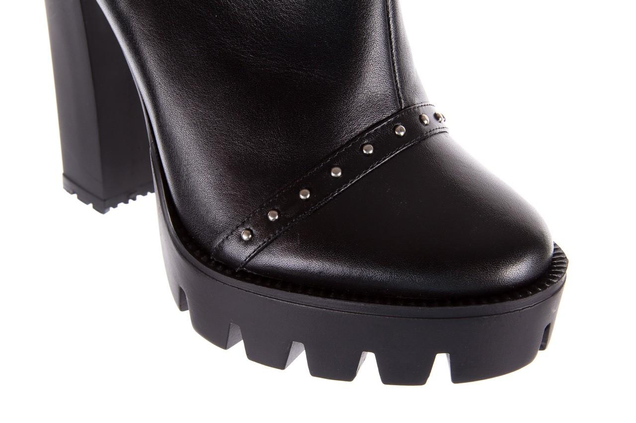 Botki bayla-176 8557 czarne botki, skóra naturalna  - biker - botki - buty damskie - kobieta 16