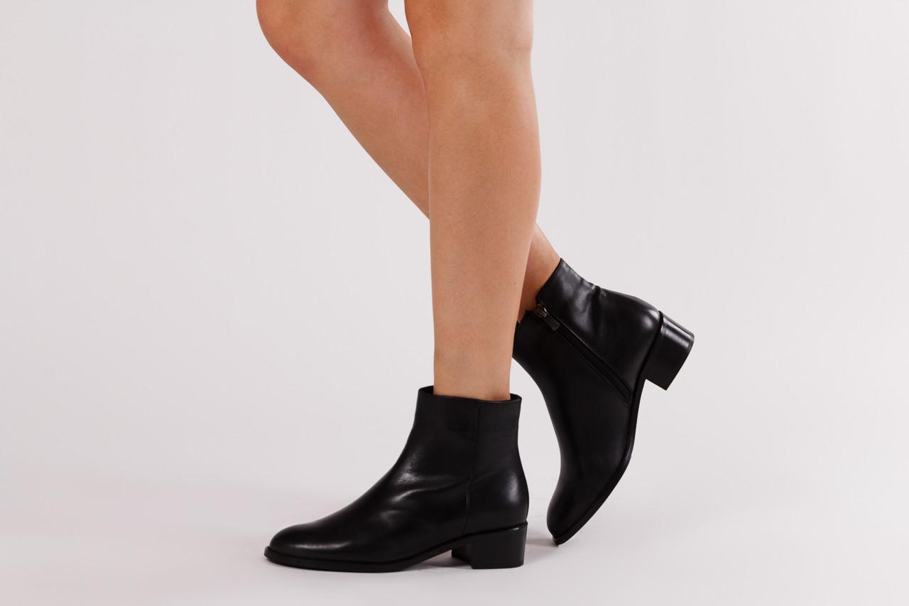 Botki bayla 161 077 47464 black 161183, czarny, skóra naturalna  - botki - buty damskie - kobieta 10