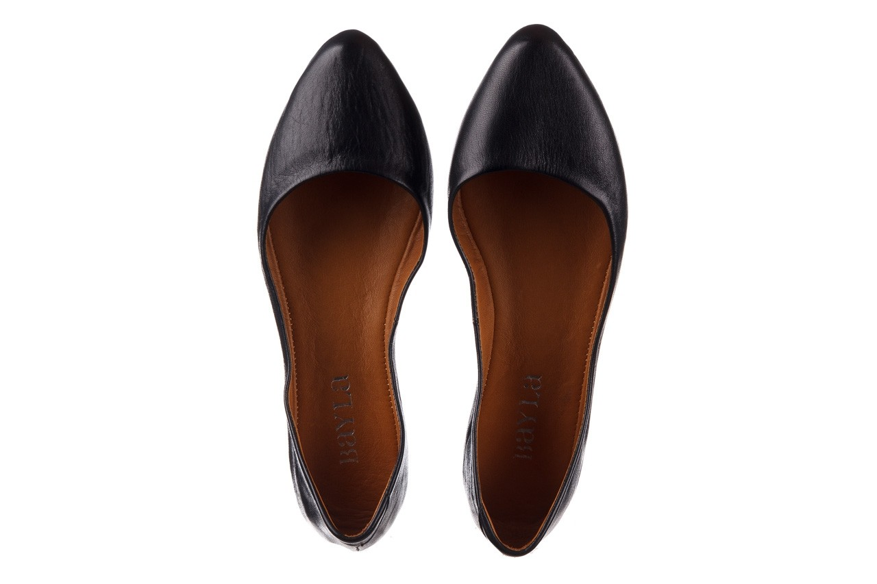 Baleriny bayla-161 066 1000 3 20 black, czarny, skóra naturalna  - skórzane - baleriny - buty damskie - kobieta 12
