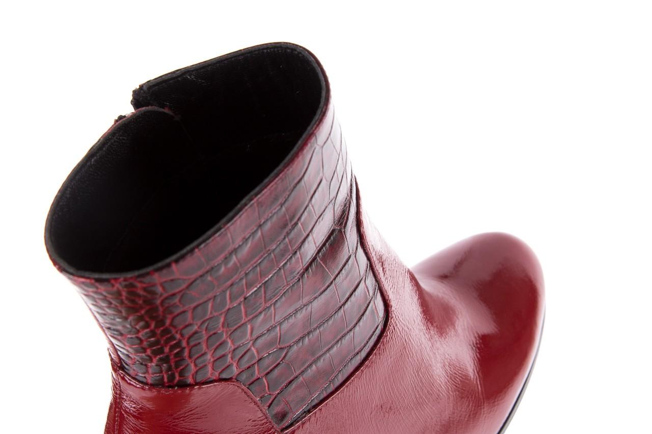 Botki bayla-176 8555 ciemnoczerwone botki, skóra naturalna  - bayla - nasze marki 16