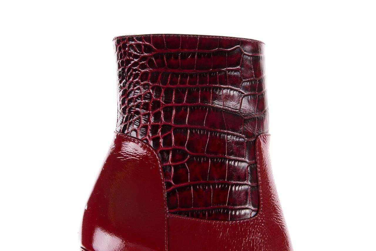 Botki bayla-176 8555 ciemnoczerwone botki, skóra naturalna  - bayla - nasze marki 19
