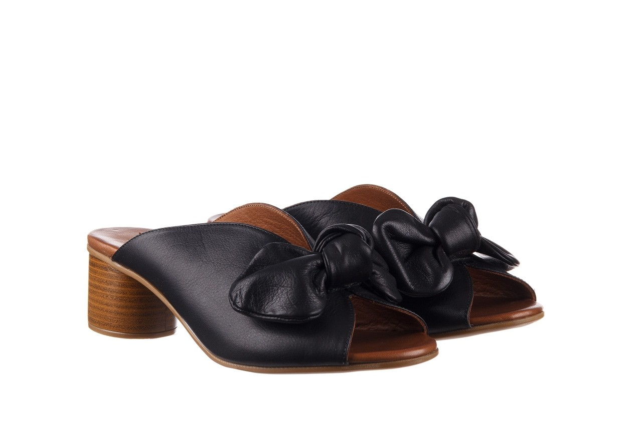 Klapki bayla-161 061 1029 black, czarny, skóra naturalna 9
