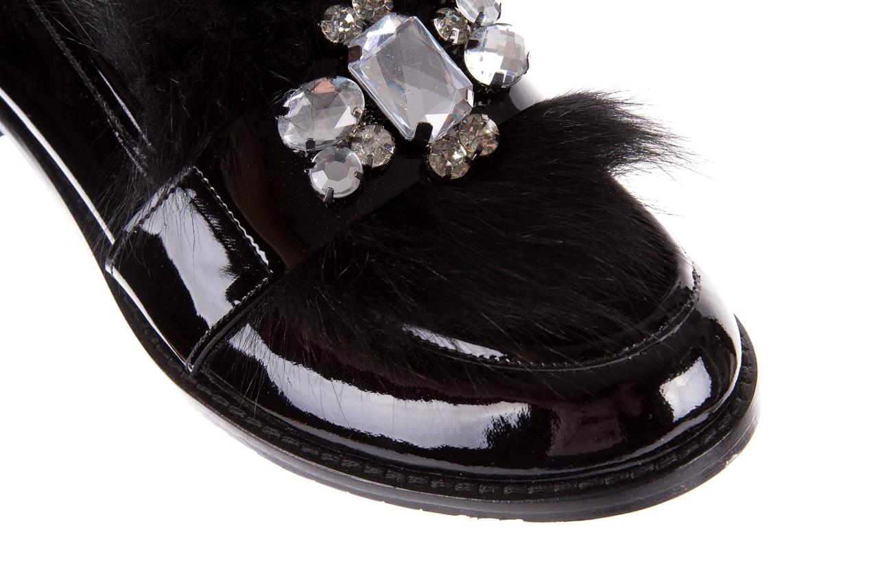 Półbuty bayla-176 8607 czarne mokasyny z futrem, skóra naturalna  - bayla - nasze marki 13