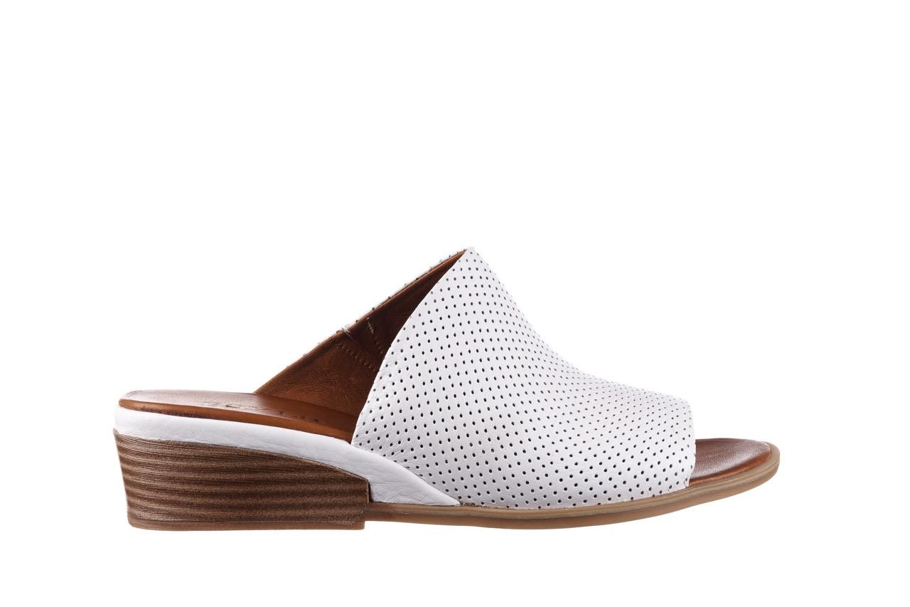 Klapki bayla-161 061 1609 white 21 161204, biały, skóra naturalna  - klapki - buty damskie - kobieta 7