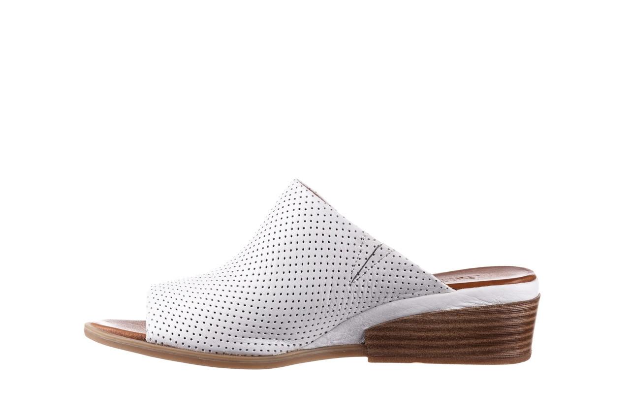 Klapki bayla-161 061 1609 white 21 161204, biały, skóra naturalna  - klapki - buty damskie - kobieta 9
