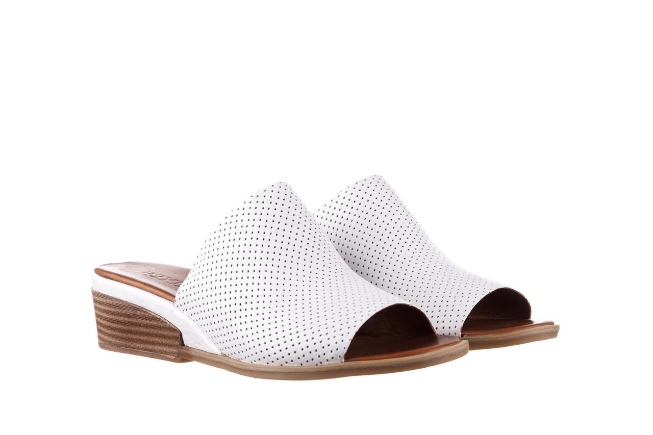 Klapki bayla-161 061 1609 white 21 161204, biały, skóra naturalna  - klapki - buty damskie - kobieta 8