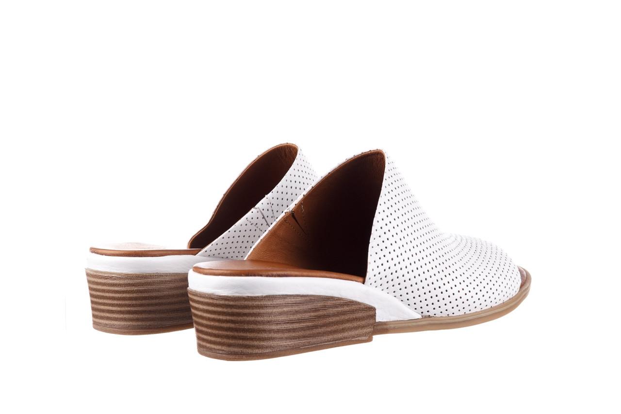 Klapki bayla-161 061 1609 white 21 161204, biały, skóra naturalna  - klapki - buty damskie - kobieta 10