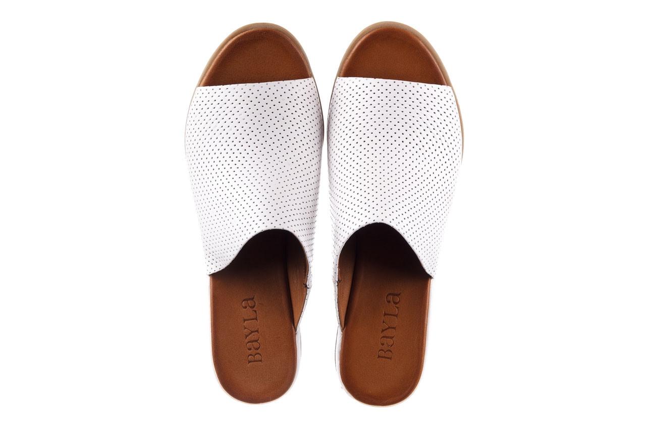Klapki bayla-161 061 1609 white 21 161204, biały, skóra naturalna  - klapki - buty damskie - kobieta 11