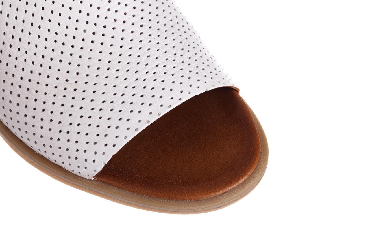 Klapki bayla-161 061 1609 white 21 161204, biały, skóra naturalna  - klapki - buty damskie - kobieta 12