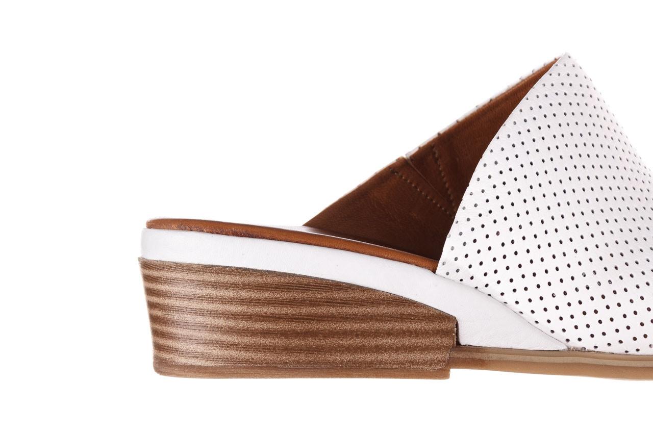 Klapki bayla-161 061 1609 white 21 161204, biały, skóra naturalna  - klapki - buty damskie - kobieta 13
