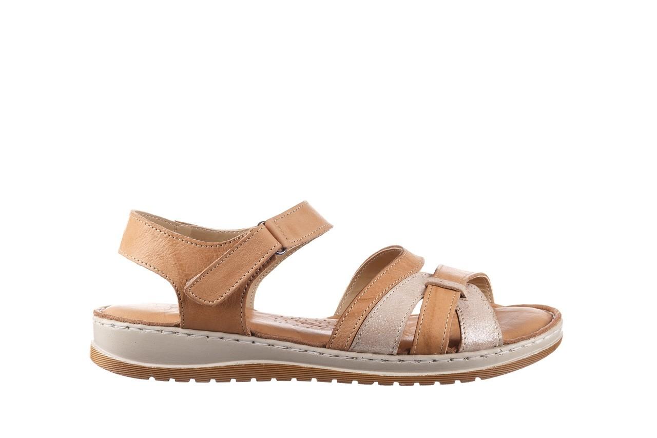 Sandały bayla-161 016 815 beige print, beż, skóra naturalna - sandały - buty damskie - kobieta 7