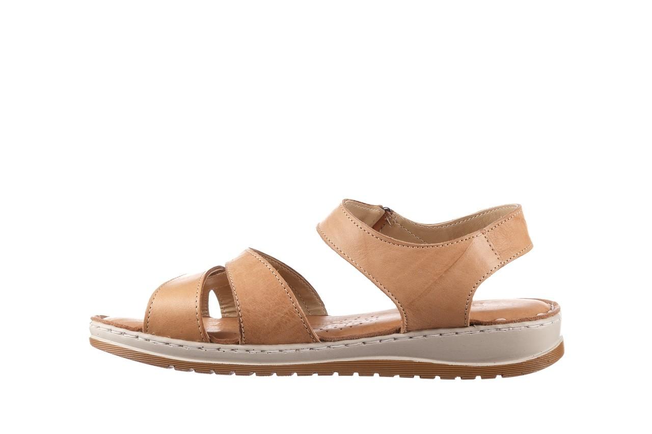 Sandały bayla-161 016 815 beige print, beż, skóra naturalna - sandały - buty damskie - kobieta 9