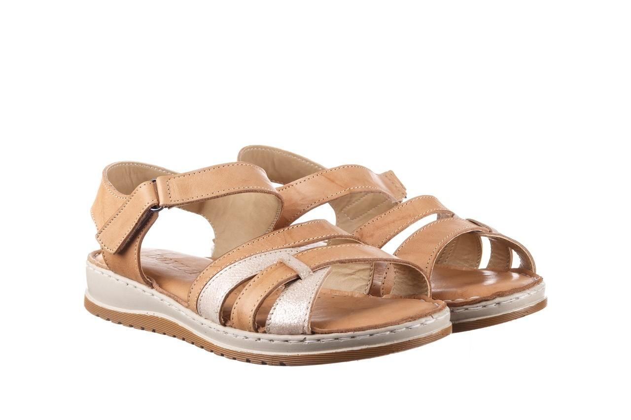 Sandały bayla-161 016 815 beige print, beż, skóra naturalna - sandały - buty damskie - kobieta 8