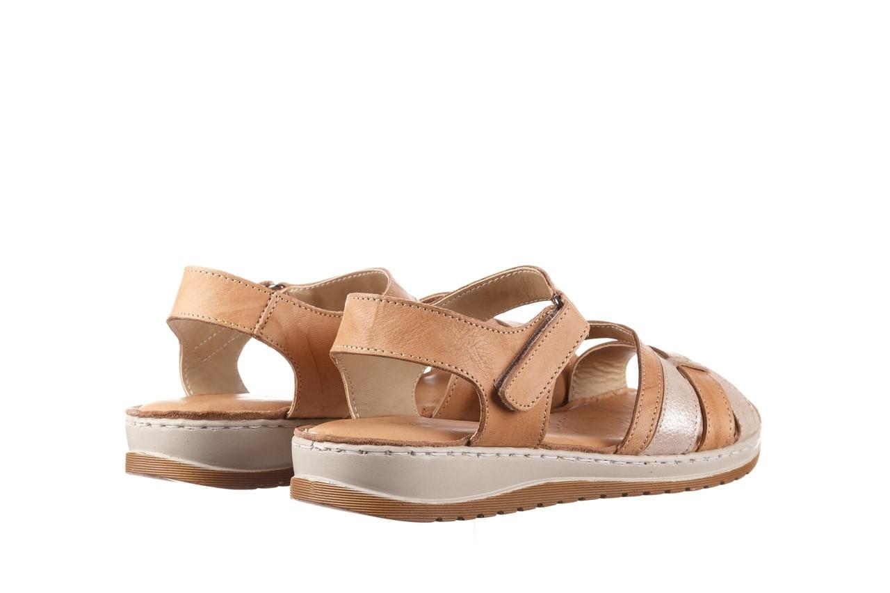 Sandały bayla-161 016 815 beige print, beż, skóra naturalna - sandały - buty damskie - kobieta 10