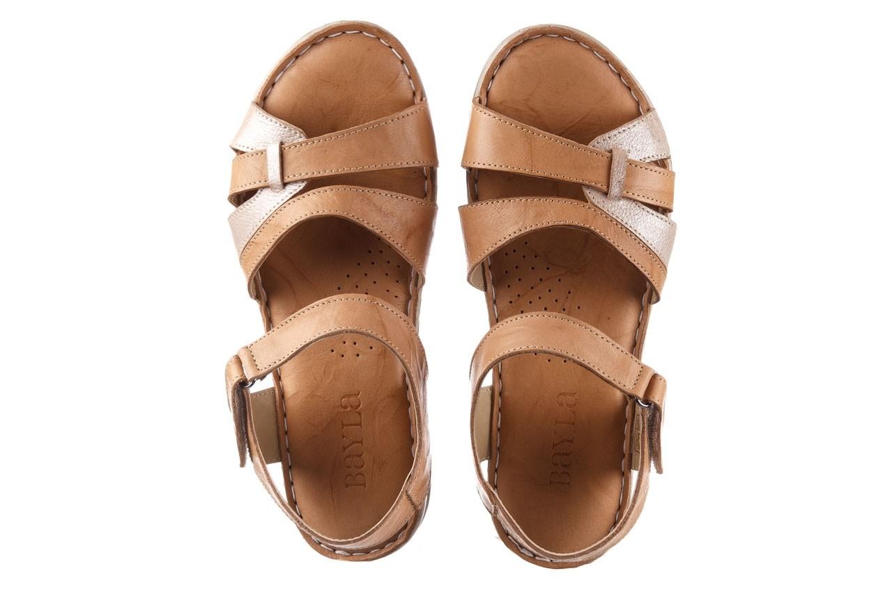 Sandały bayla-161 016 815 beige print, beż, skóra naturalna - sandały - buty damskie - kobieta 11