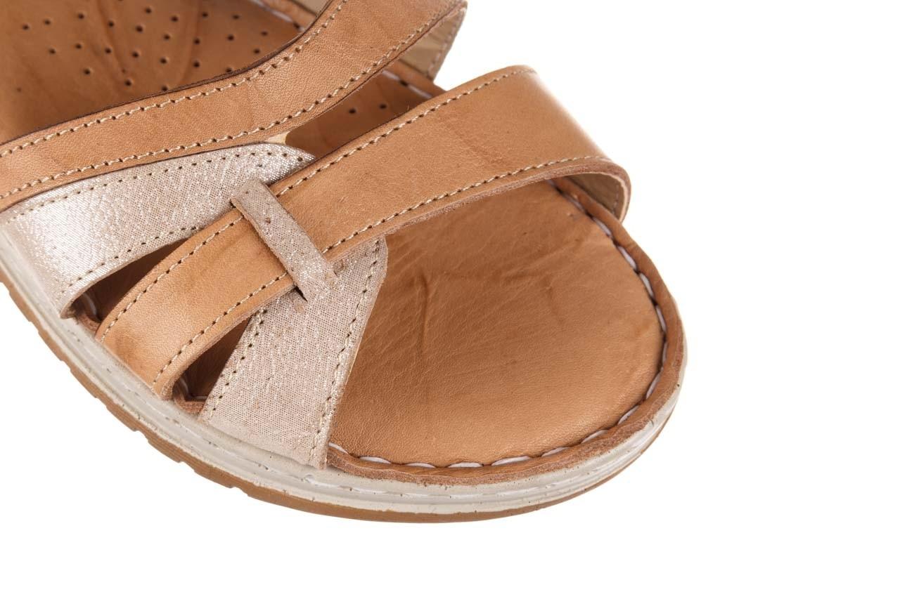 Sandały bayla-161 016 815 beige print, beż, skóra naturalna - sandały - buty damskie - kobieta 12