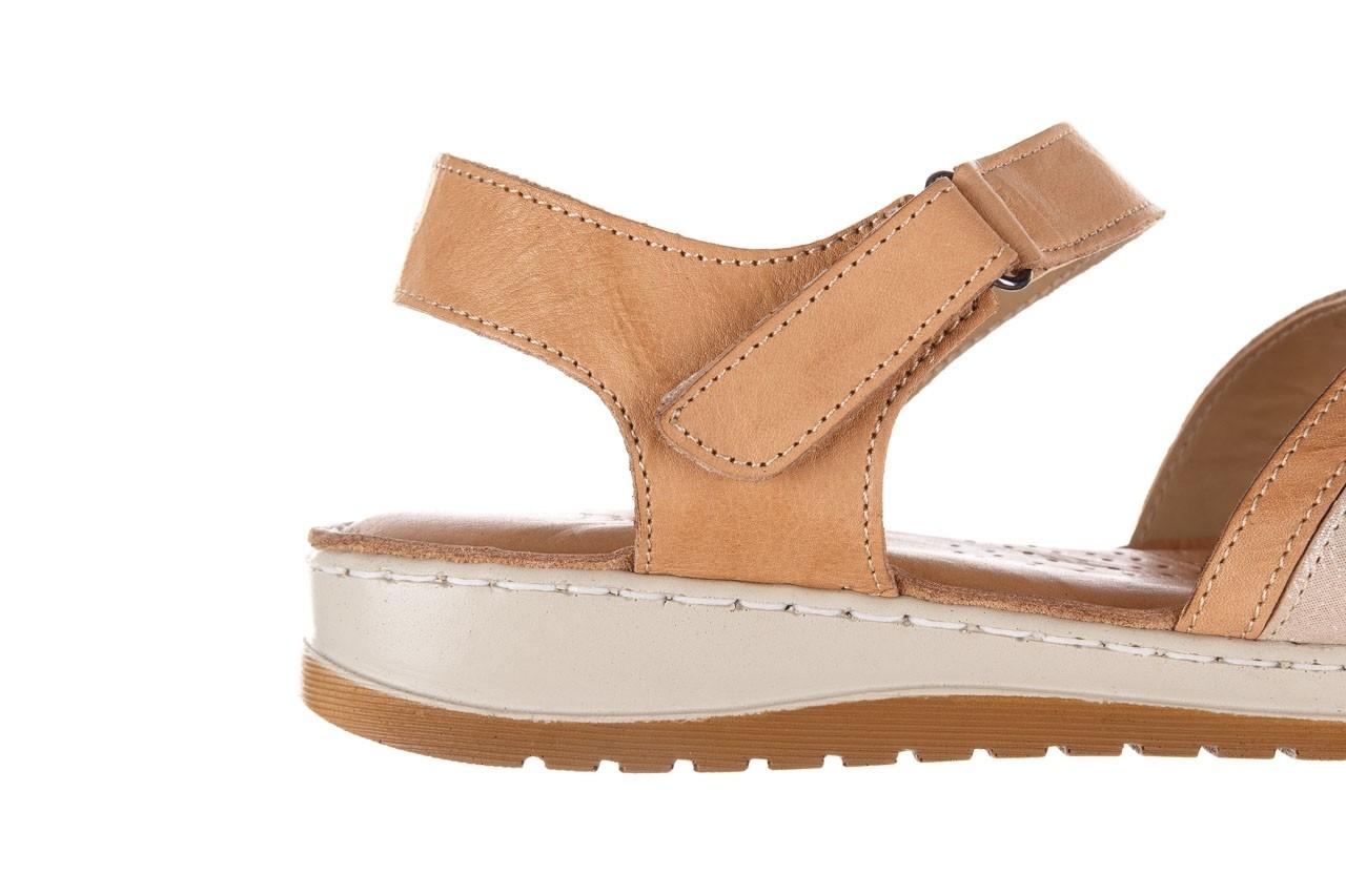 Sandały bayla-161 016 815 beige print, beż, skóra naturalna - sandały - buty damskie - kobieta 13