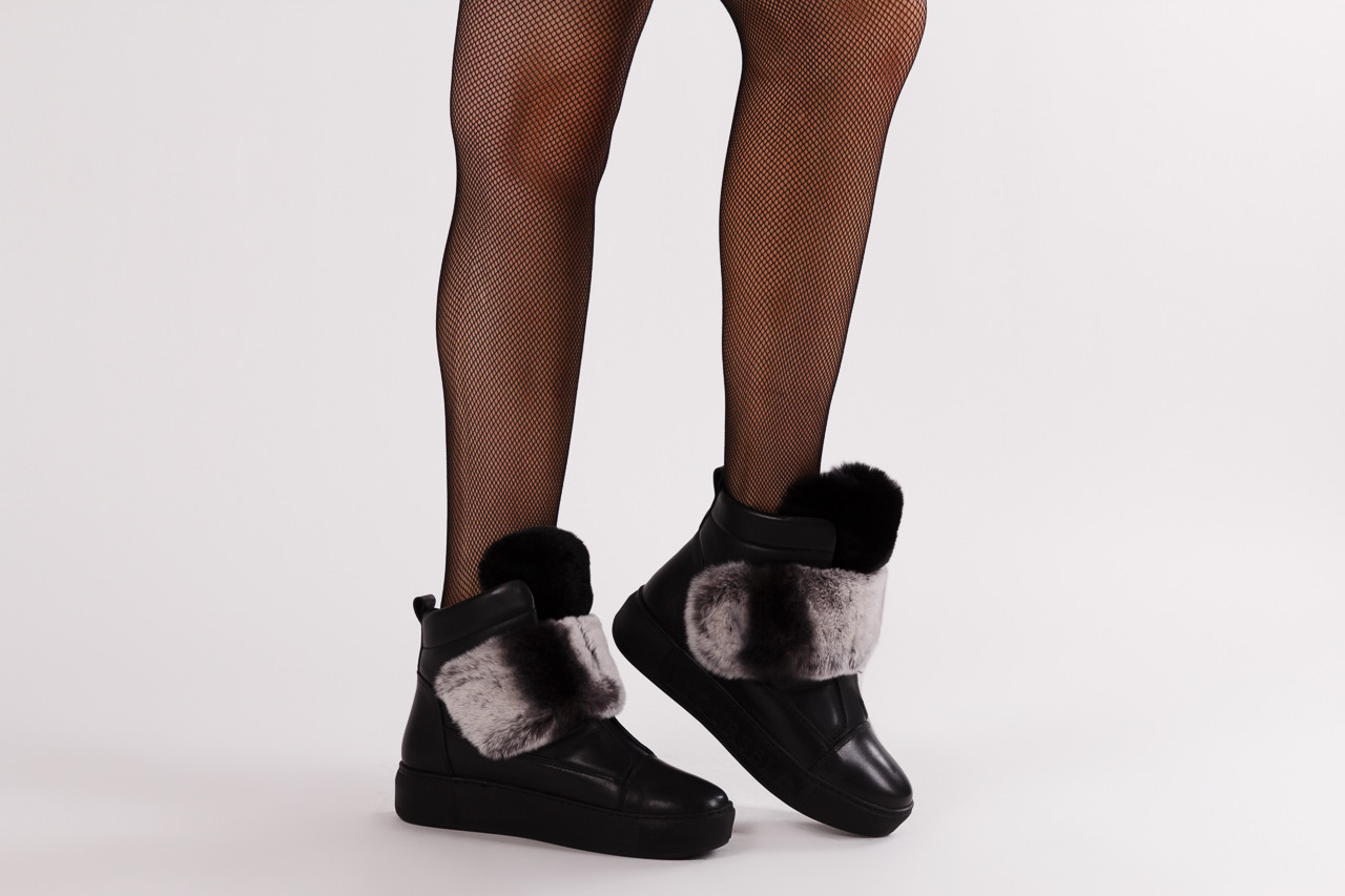 Śniegowce bayla 161 017 2021 02 black 161161, czarny, skóra naturalna  - śniegowce - śniegowce i kalosze - buty damskie - kobieta 14