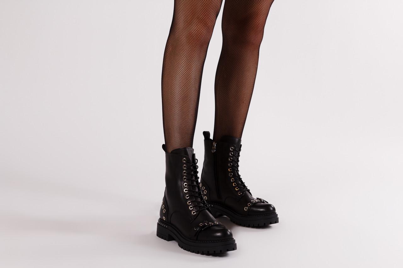 Trzewiki bayla 161 050 7255  01 black 161176, czarny, skóra naturalna  - trzewiki - buty damskie - kobieta 14