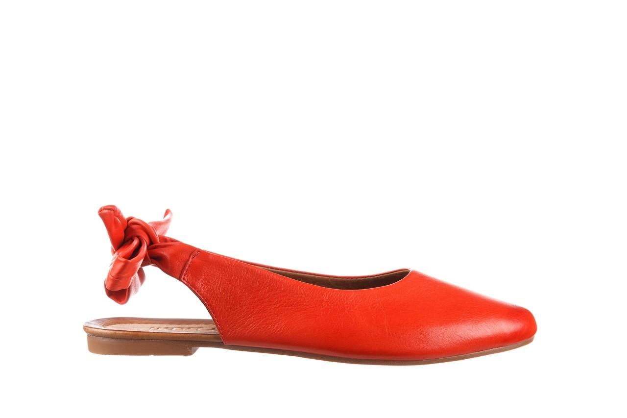 Sandały bayla-161 066 504 310 red, czerwony, skóra naturalna 7