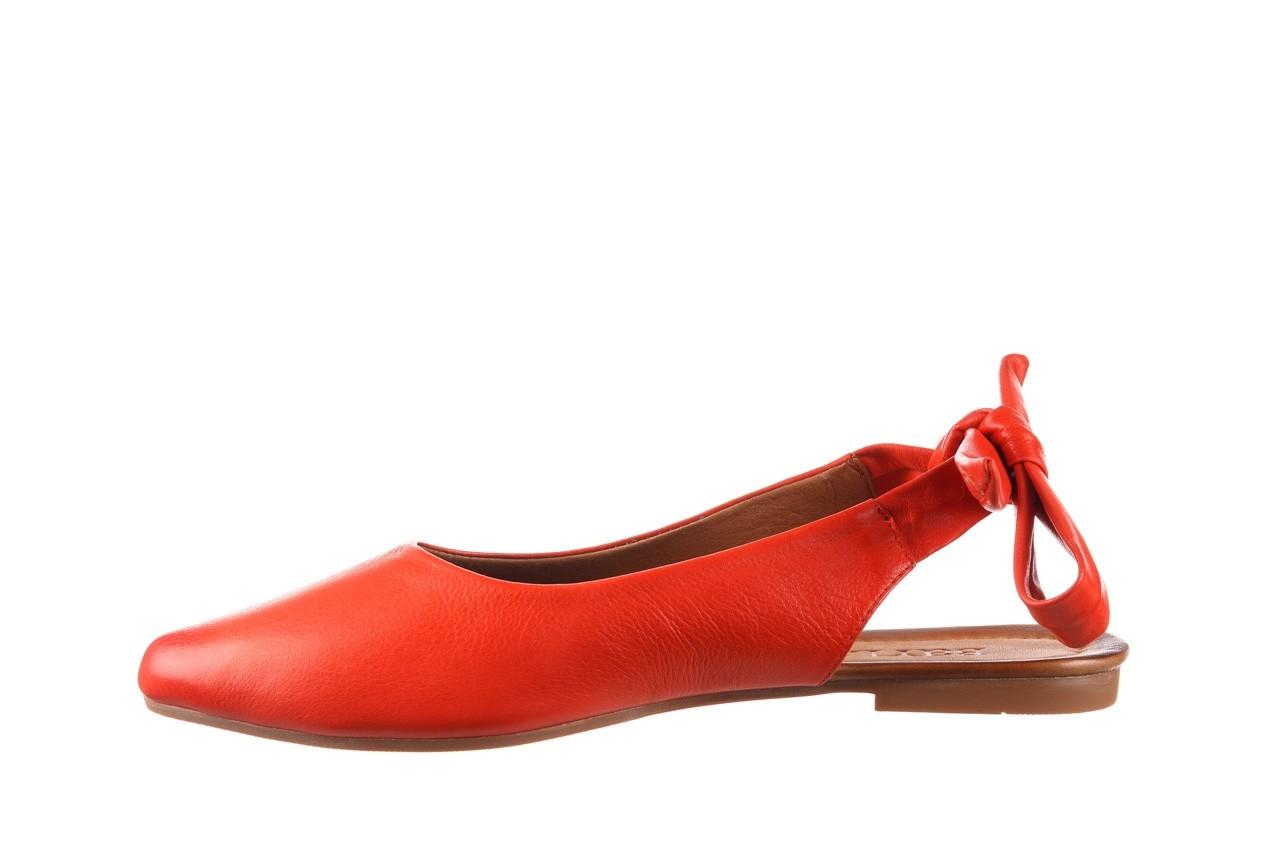 Sandały bayla-161 066 504 310 red, czerwony, skóra naturalna 9