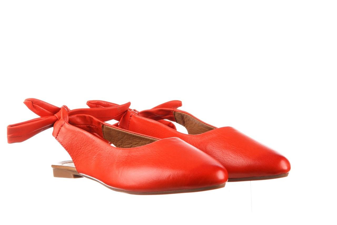 Sandały bayla-161 066 504 310 red, czerwony, skóra naturalna 8