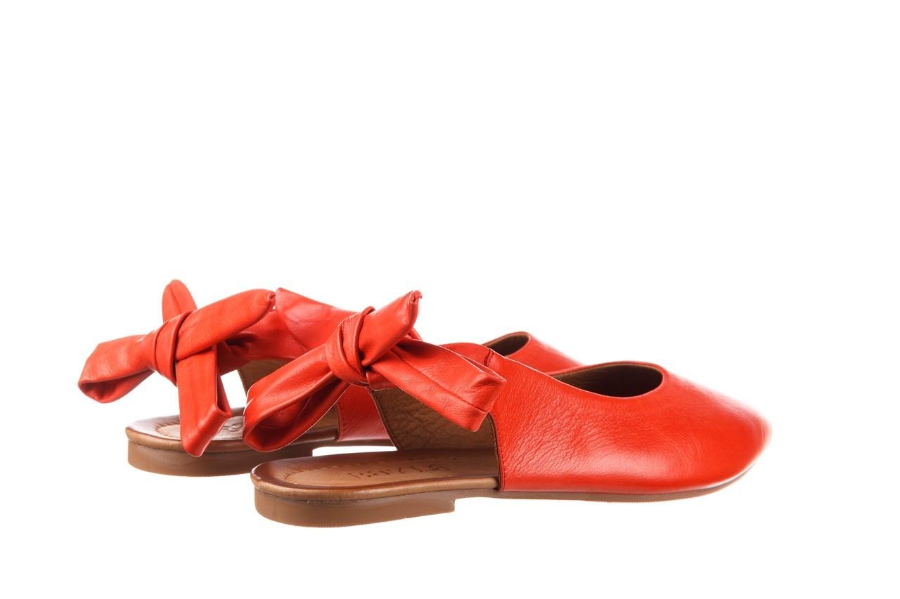 Sandały bayla-161 066 504 310 red, czerwony, skóra naturalna 10