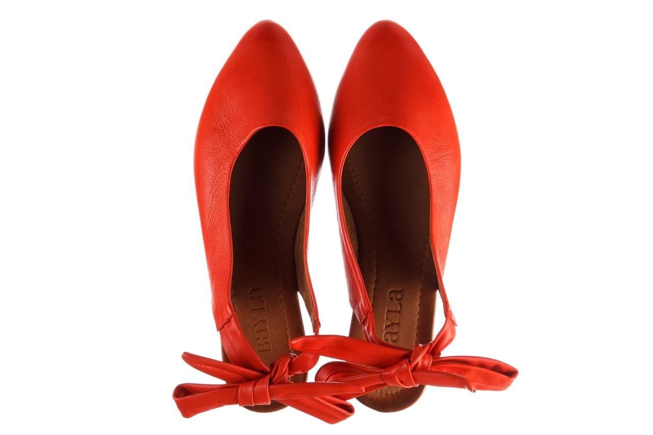 Sandały bayla-161 066 504 310 red, czerwony, skóra naturalna 11
