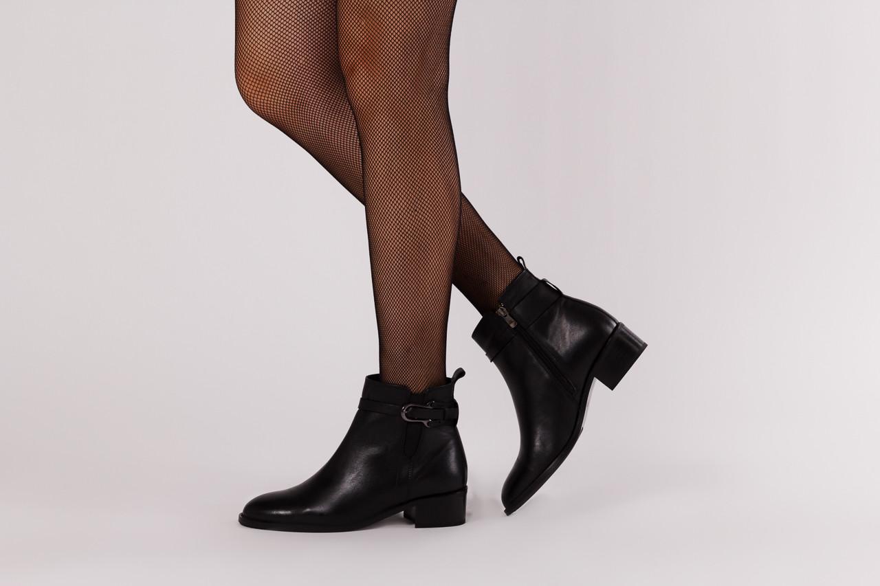 Botki bayla 161 077 48461 black 161184, czarny, skóra naturalna  - skórzane - botki - buty damskie - kobieta 13