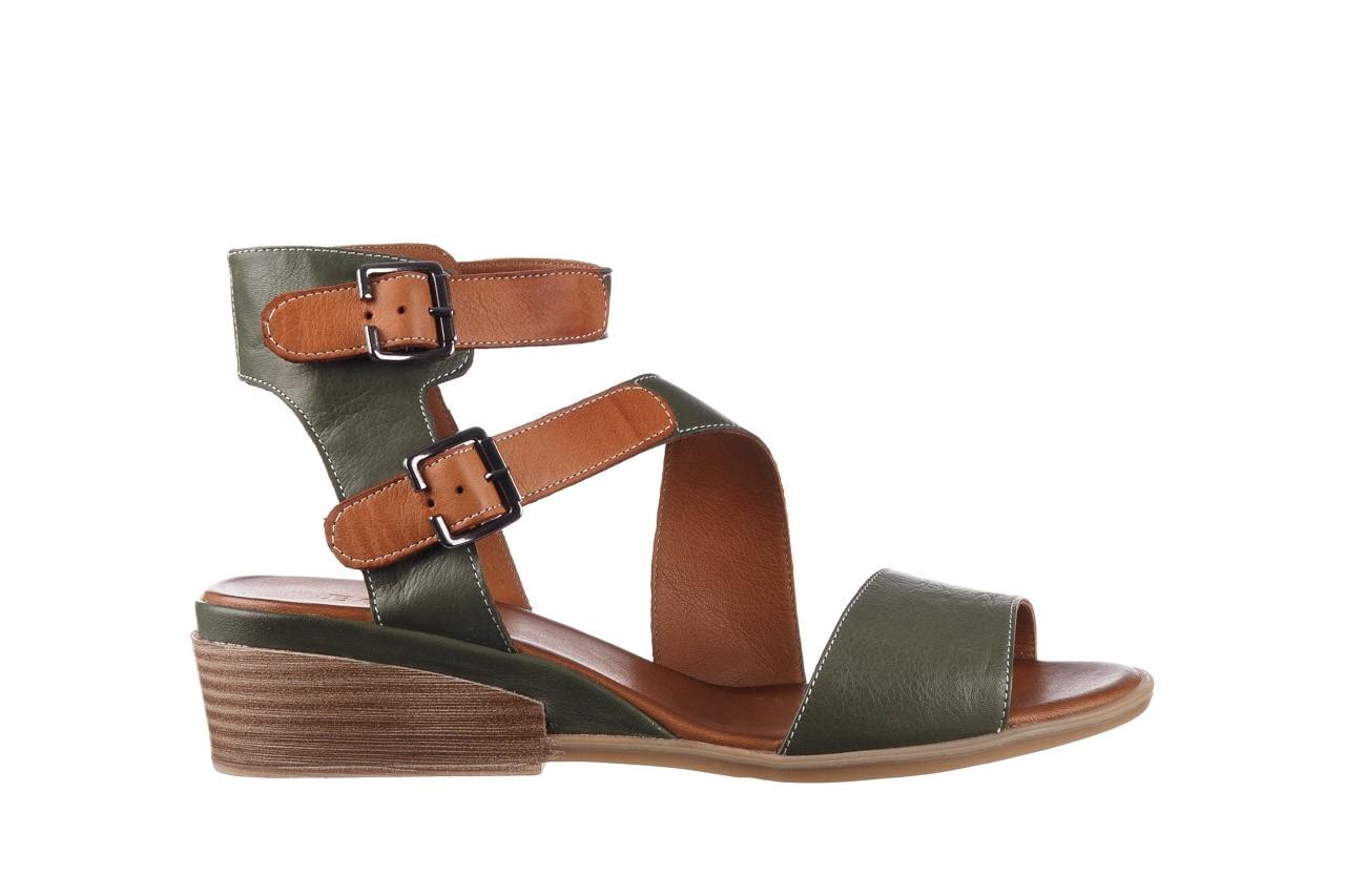 Sandały bayla-161 061 1605 dark olive tan, zielony, skóra naturalna - koturny - buty damskie - kobieta 8