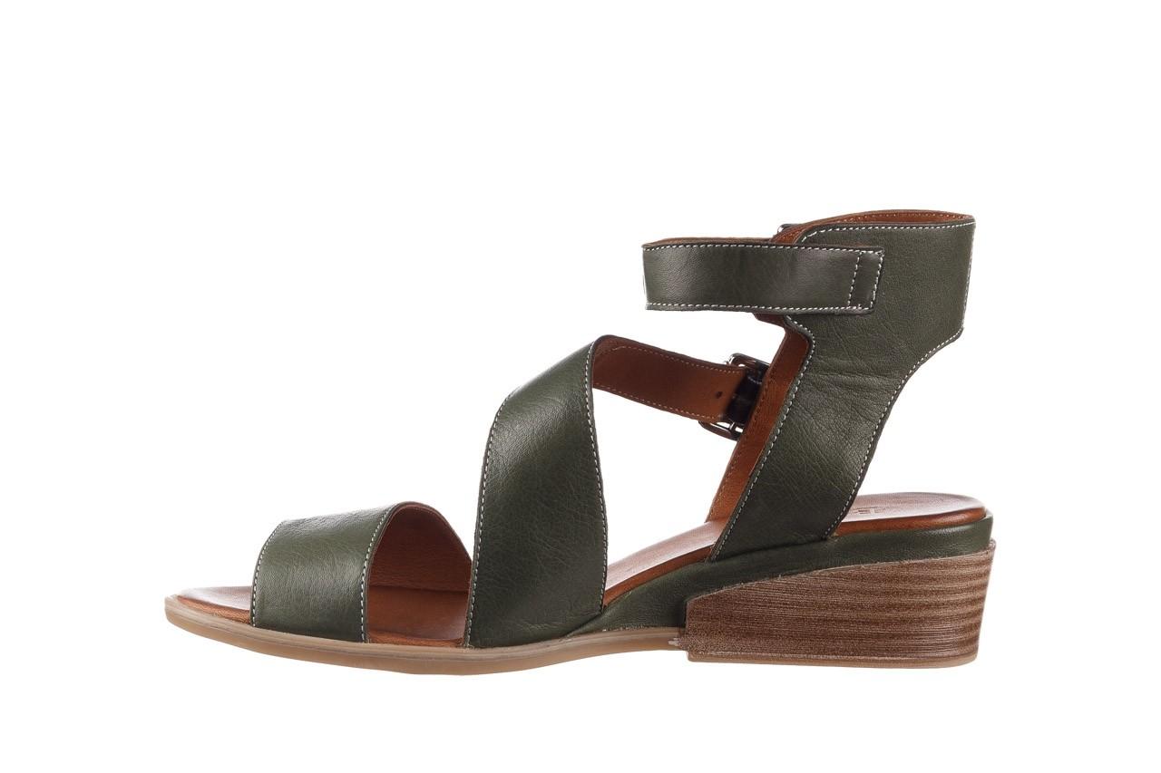 Sandały bayla-161 061 1605 dark olive tan, zielony, skóra naturalna - na koturnie - sandały - buty damskie - kobieta 10
