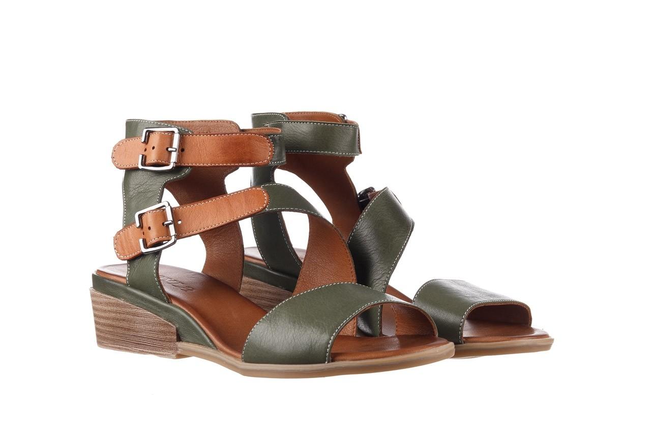 Sandały bayla-161 061 1605 dark olive tan, zielony, skóra naturalna - koturny - buty damskie - kobieta 9