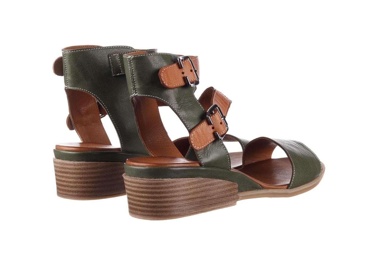 Sandały bayla-161 061 1605 dark olive tan, zielony, skóra naturalna - koturny - buty damskie - kobieta 11