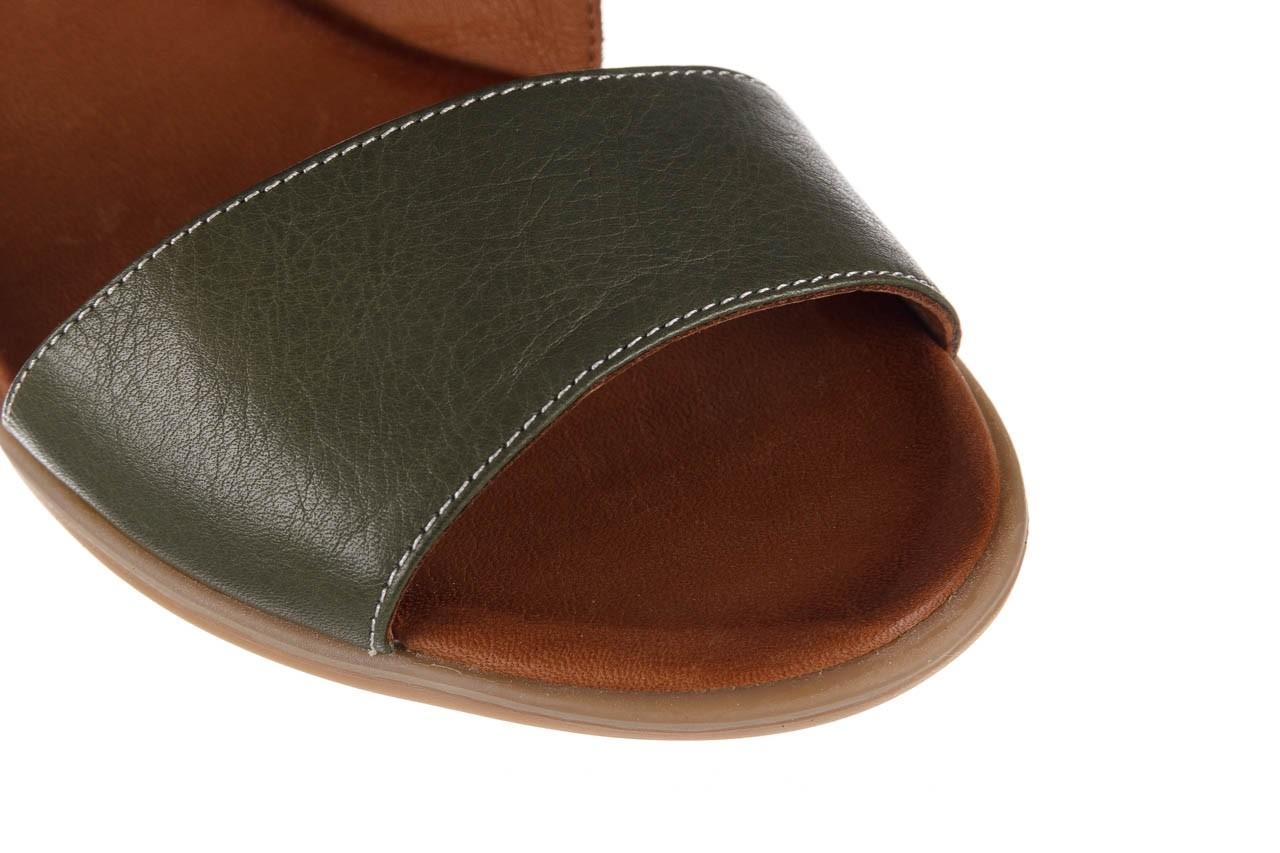 Sandały bayla-161 061 1605 dark olive tan, zielony, skóra naturalna - koturny - buty damskie - kobieta 14