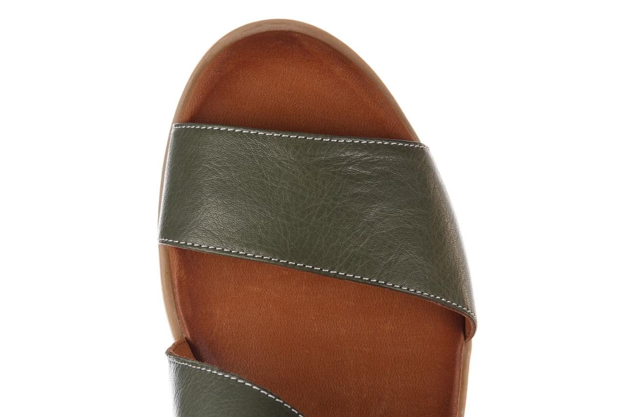 Sandały bayla-161 061 1605 dark olive tan, zielony, skóra naturalna - koturny - buty damskie - kobieta 13