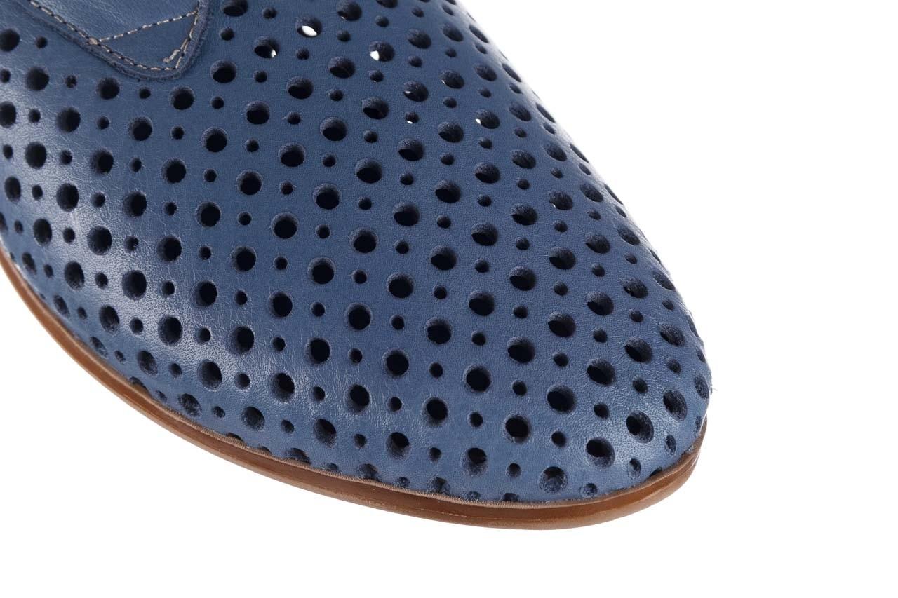 Półbuty bayla-161 138 80129 denim, niebieski, skóra naturalna 14
