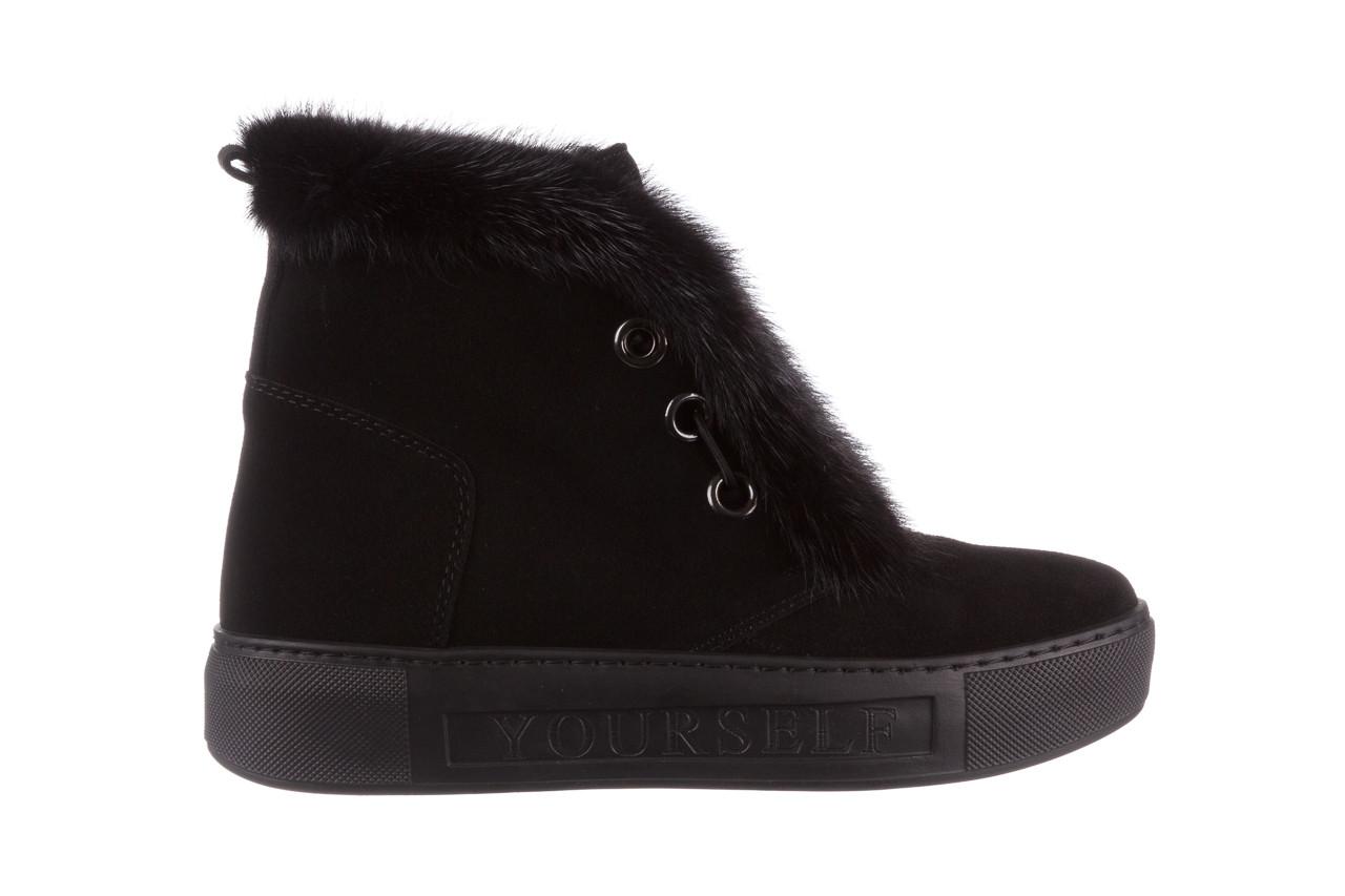 Śniegowce bayla 161 017 2032 black suede 161163, czarny, skóra naturalna  - trendy - kobieta 14