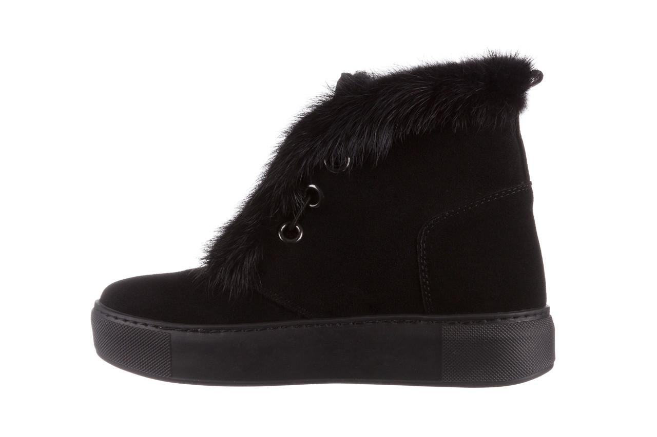 Śniegowce bayla 161 017 2032 black suede 161163, czarny, skóra naturalna  - trendy - kobieta 17